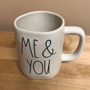 "Beautiful New Rae Dunn ""Me & You"" Mug Two-Sided"